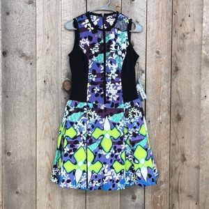 NWT Peter Pilotto Target floral abstract flare 2